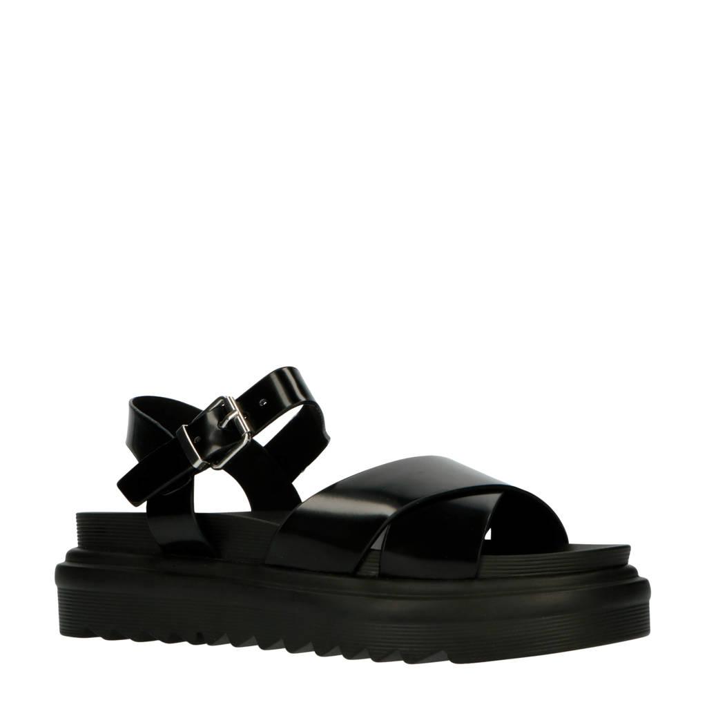 Raid Carmen  plateau sandalen zwart, Zwart
