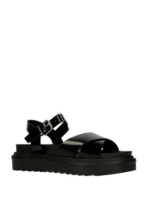 Carmen  plateau sandalen zwart