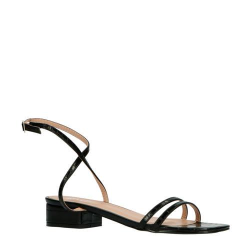 Raid Evan sandalen crocoprint zwart