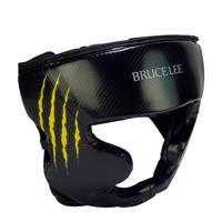 Bruce Lee Signature Hoofdbeschermer - Kickbokshoofdbeschermer - PU - S/M, Zwart/geel