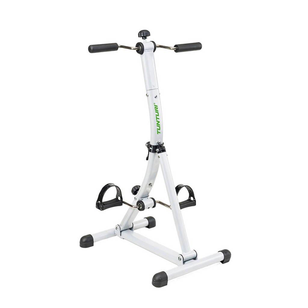 Tunturi  Dubbele Bewegingstrainer - Fietstrainer - Stoelfiets - Mini bike - Verstelbaar, Wit