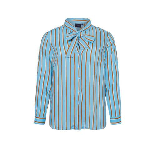 JUNAROSE gestreepte blouse blauw