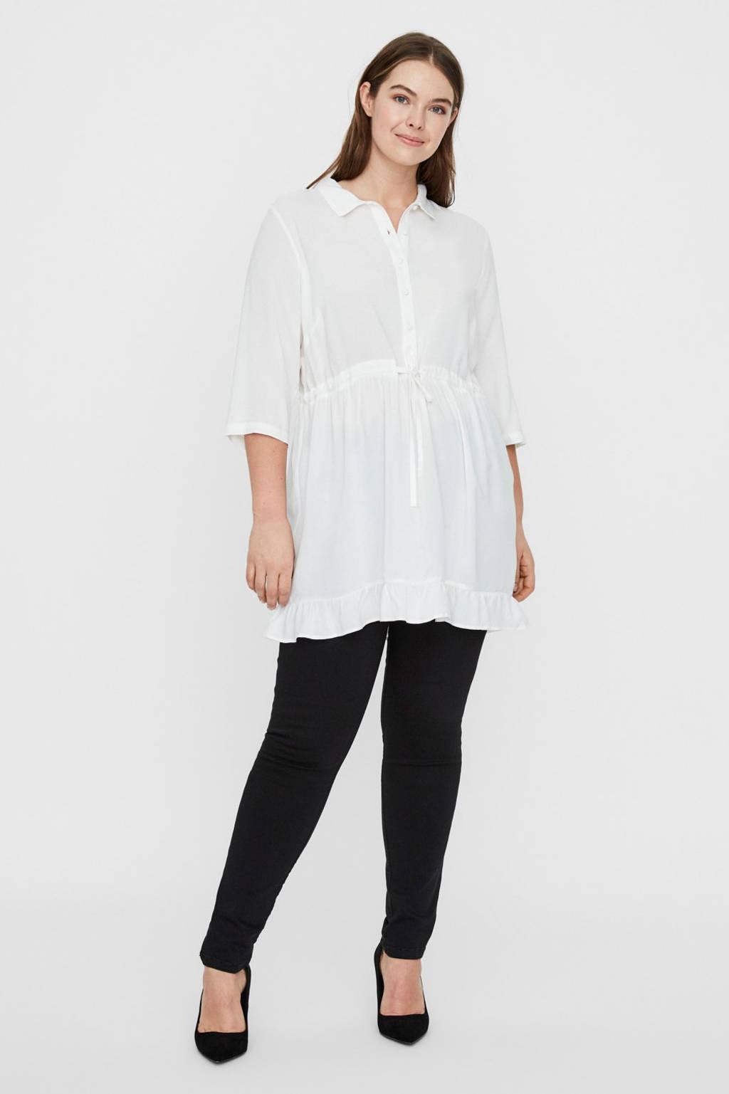 JUNAROSE blousejurk met volant wit, Wit
