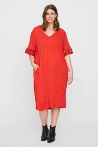 JUNAROSE A-lijn jurk met open detail rood, Rood