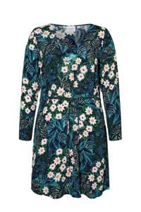 JUNAROSE gebloemde jurk blauw/multi, Blauw/multi