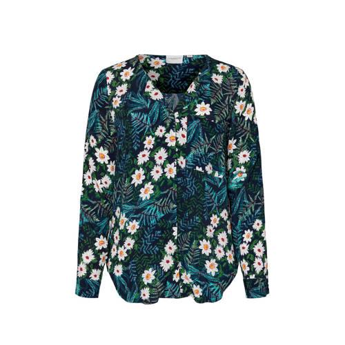 JUNAROSE gebloemde blouse zwart