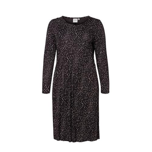 JUNAROSE A-lijn jurk met all over print zwart