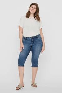 JUNAROSE slim fit capri jeans blauw, Blauw
