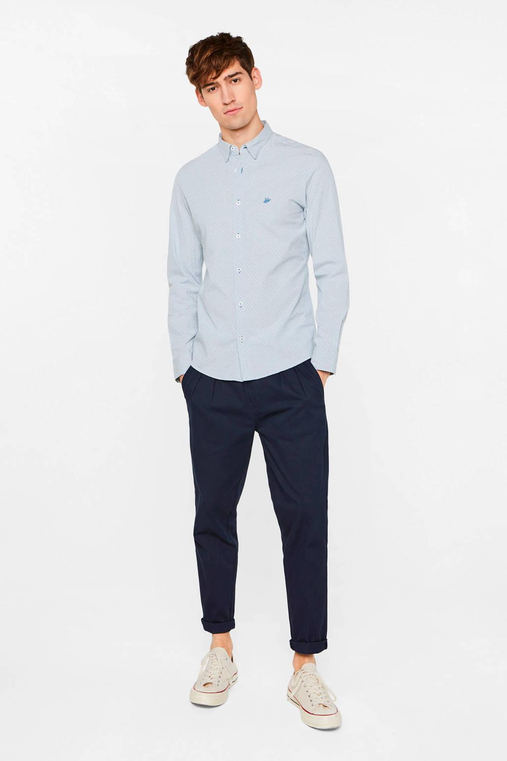 WE Fashion slim fit overhemd blue whale, Blue Whale