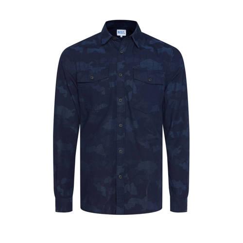 WE Fashion Blue Ridge slim fit overhemd met all ov