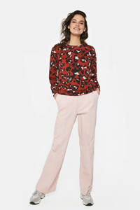 WE Fashion longsleeve met all over print rood, Rood