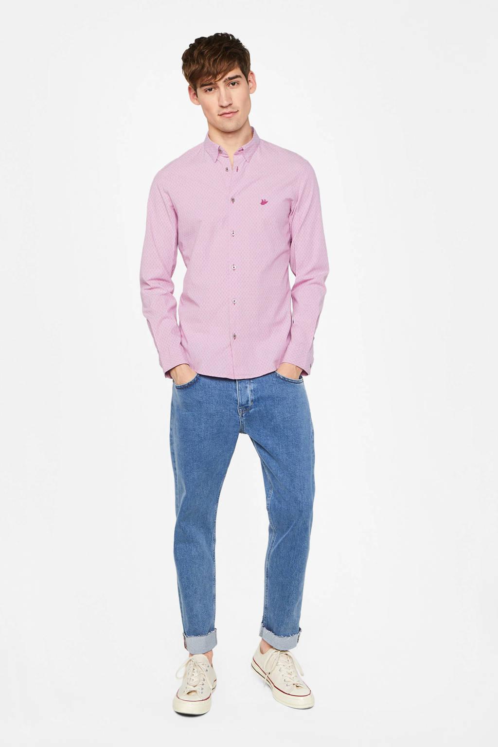 WE Fashion slim fit overhemd purple potion, Purple Potion