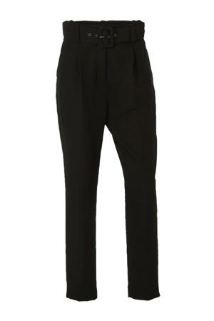 Yessica high waist slim fit pantalon zwart