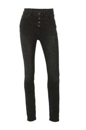 Yessica high waist skinny jeans zwart