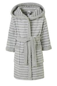 C&A Palomino badjas grijs/wit streep, Grijs/wit