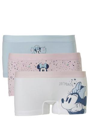 Disney @ shorts lichtblauw/roze - set van 3