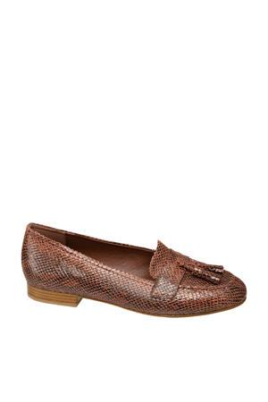 loafers slangenprint bruin