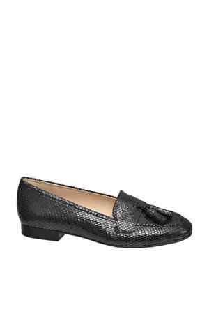 loafers slangenprint zwart
