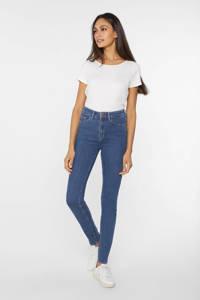 WE Fashion Blue Ridge high waist skinny jeans blauw, Blauw