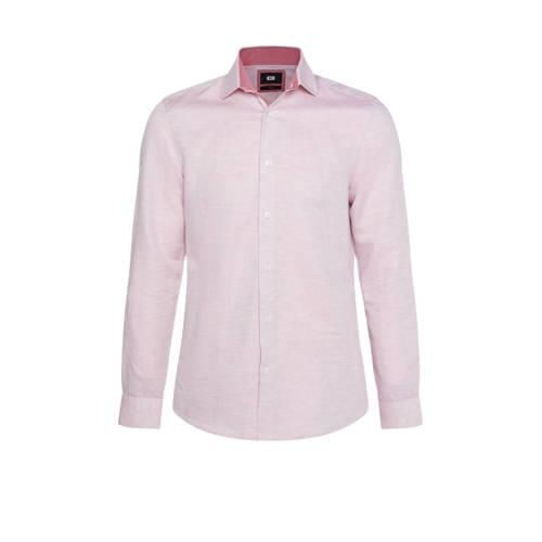 WE Fashion slim fit overhemd lichtroze