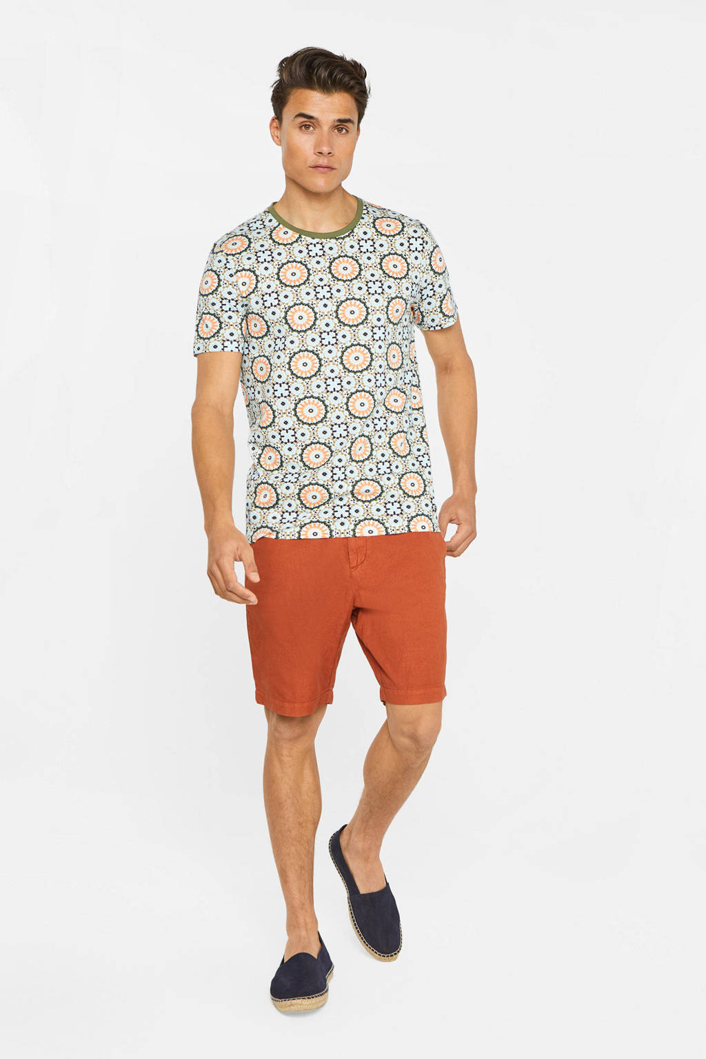 WE Fashion regular fit bermuda brique, Brique