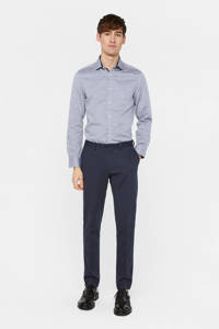 WE Fashion slim fit overhemd royal navy, Royal Navy