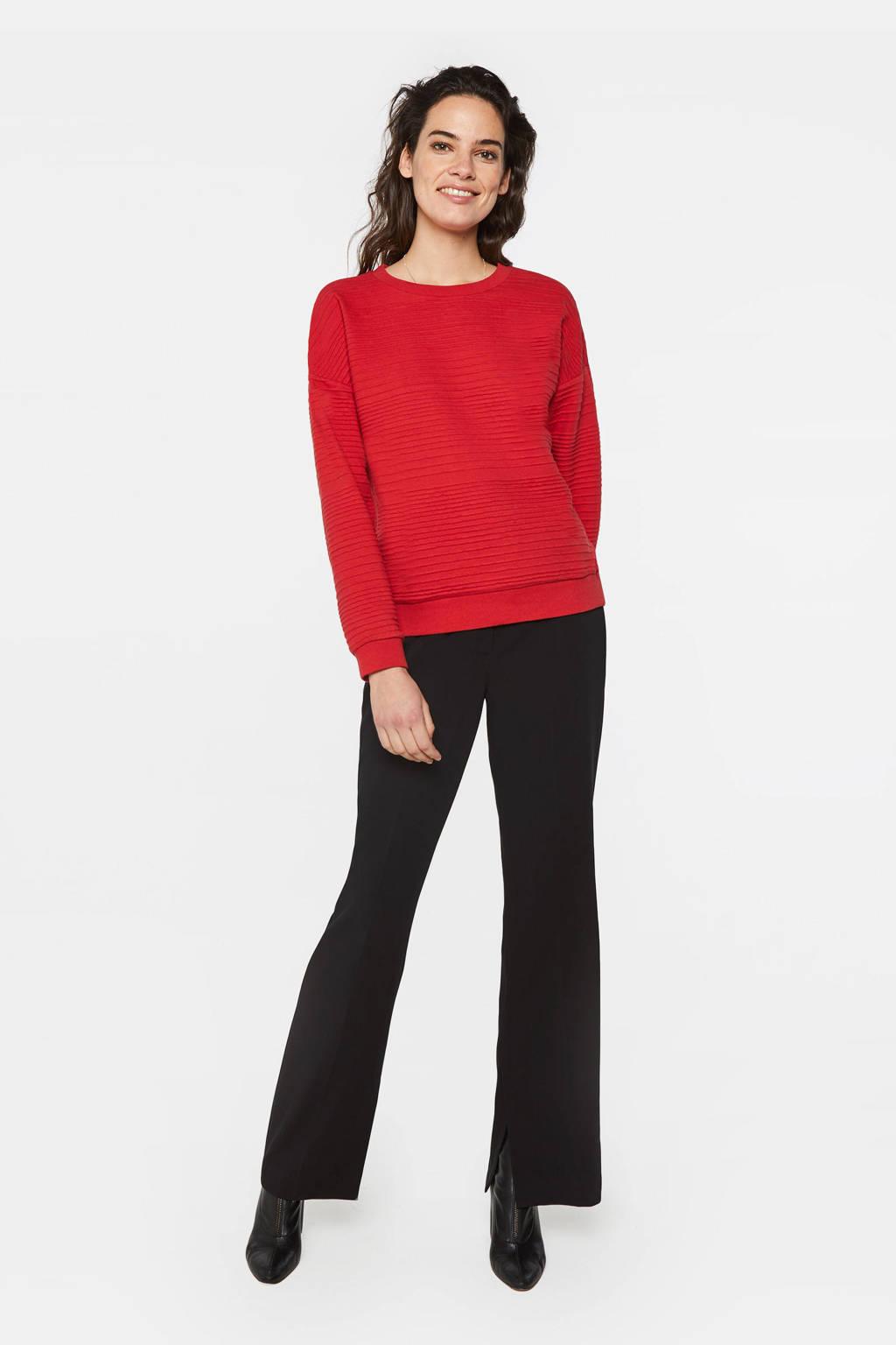WE Fashion sweater met textuur rood, Rood