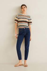Mango high waist slim fit jeans blauw, Blauw