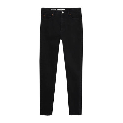Mango high waist skinny jeans antraciet
