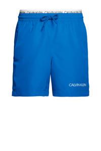 CALVIN KLEIN zwemshort blauw/wit, Blauw