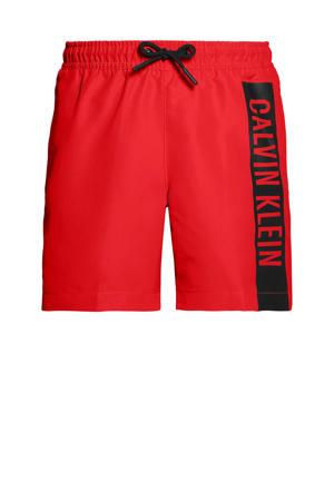 zwemshort rood/zwart