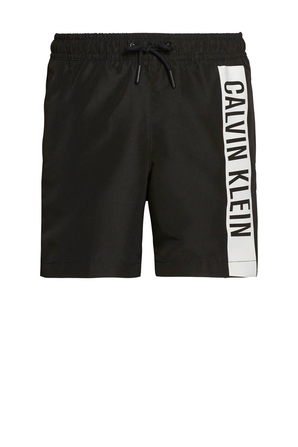 CALVIN KLEIN zwemshort zwart/wit, Zwart