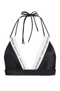 CALVIN KLEIN triangel bikinitop zwart/wit, Zwart