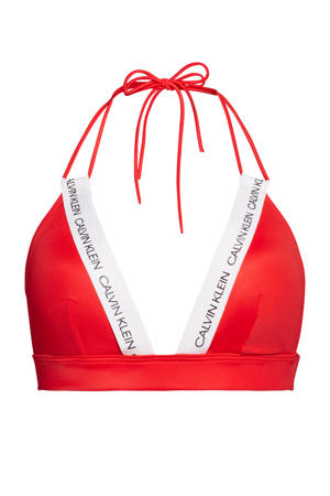 triangel bikinitop rood/wit