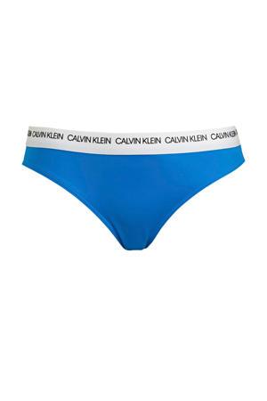 bikinibroekje blauw/wit
