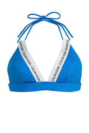 triangel bikinitop blauw/wit