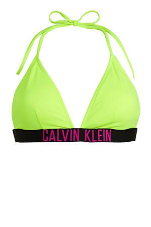 triangel bikinitop geel