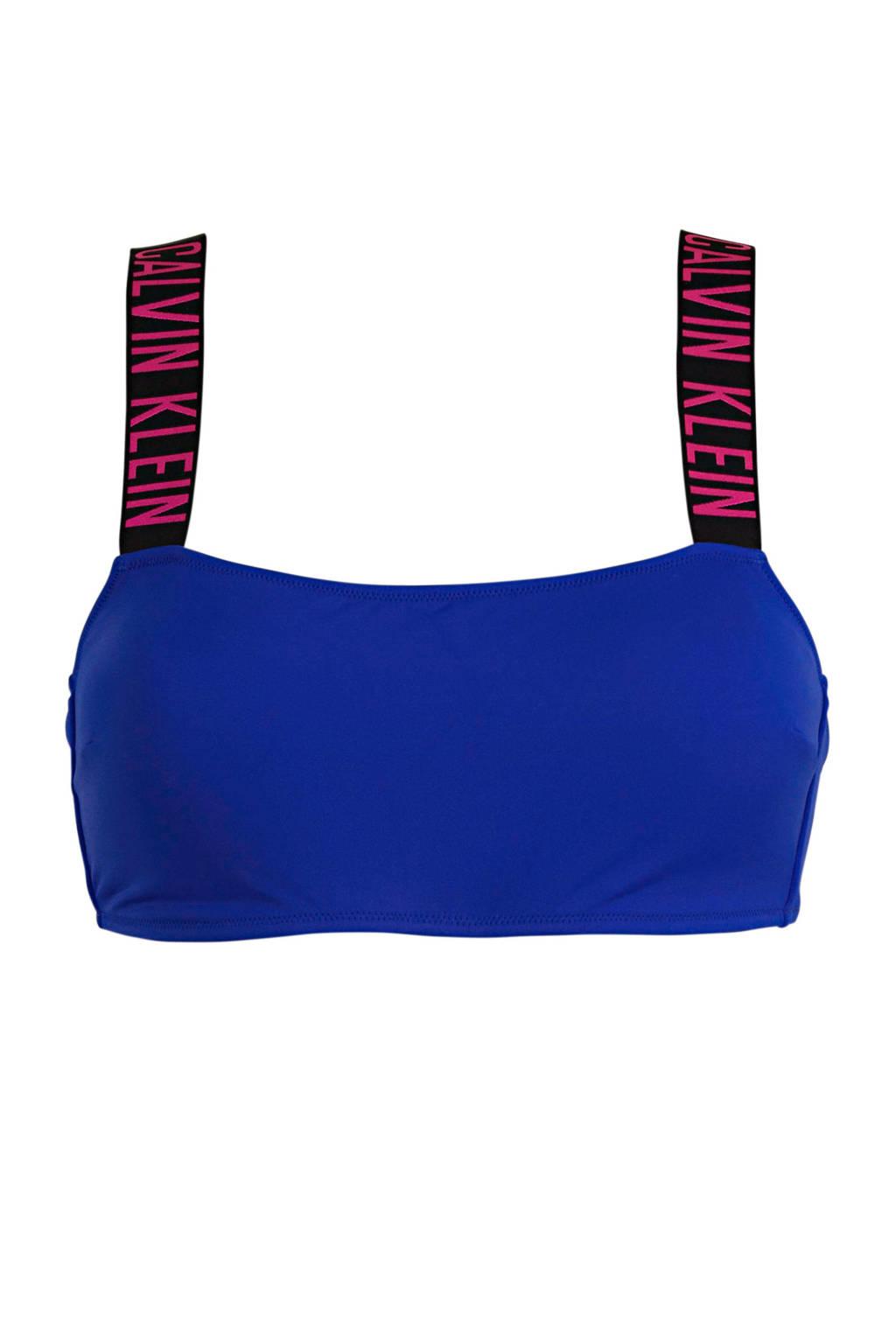 CALVIN KLEIN bandeau bikinitop blauw, Blauw