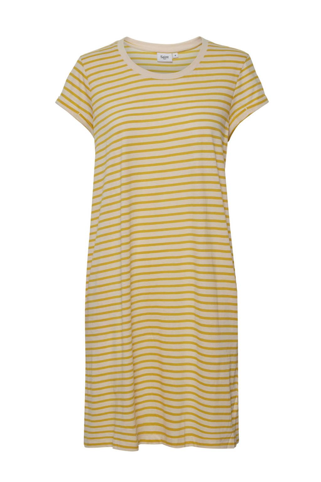 Saint Tropez gestreepte jersey jurk Flora ecru, Ecru