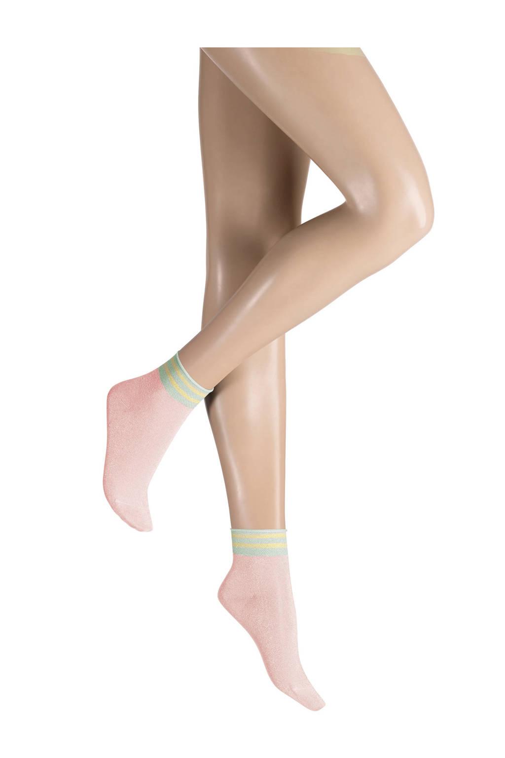 Kunert sokken met lurex roze, Roze