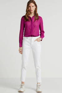 Another-Label blouse met all over print paars, Paars