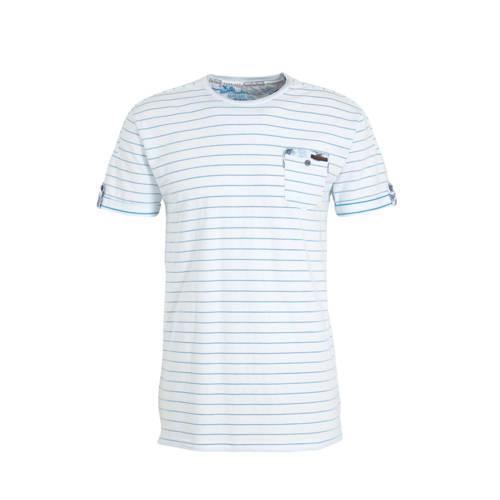 GABBIANO gestreept T-shirt lichtblauw
