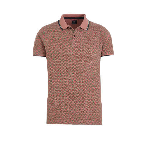 Dstrezzed slim fit polo roodbruin