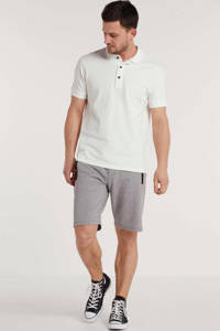 REPLAY slim fit polo wit, Wit