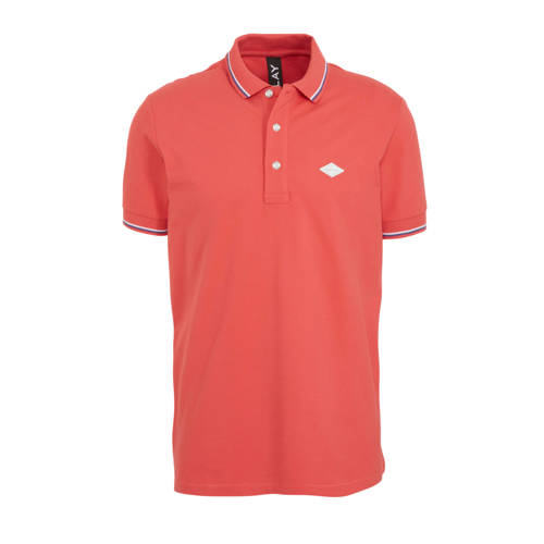 REPLAY slim fit polo radish red