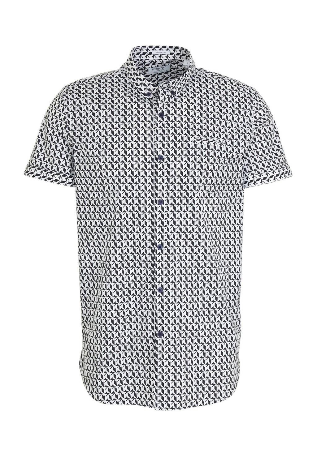 Dstrezzed regular fit overhemd met all over print wit/zwart, Wit/zwart