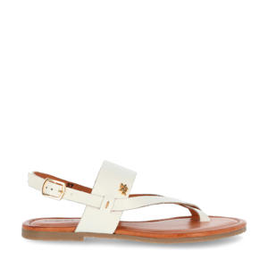 Enya  leren sandalen wit