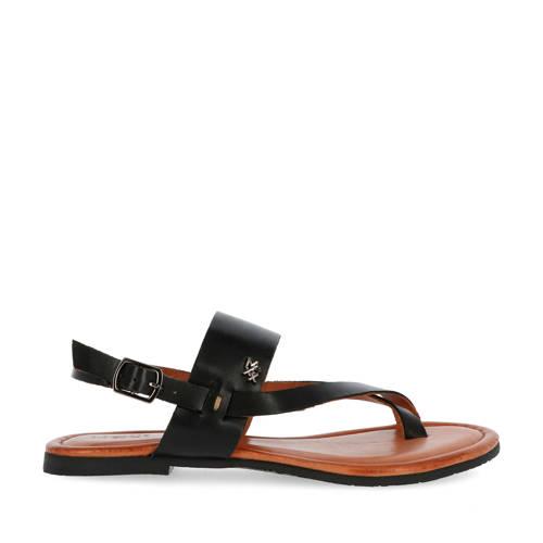 Mexx Enya leren sandalen zwart