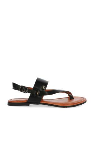 Enya  leren sandalen zwart