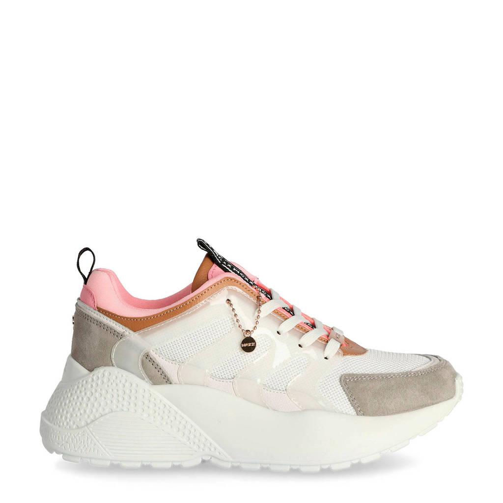 Mexx Eliz  chunky dad sneakers wit/roze, Wit/roze